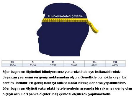 Deri şapka beden ölçümü nasıl yapılır