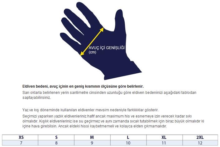 erkek deri eldiven ölçü
